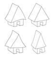 house web icon silhouette set symbol icon design vector image vector image