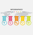 infographic design template with label tags vector image vector image