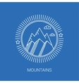 Line mountain and travel design logos and icons vector image vector image