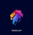 lion template vector image