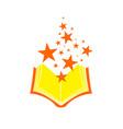 magical wizard book symbol design vector image