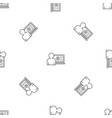 man watch web video pattern seamless vector image