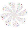 medical symbols fireworks swirl flower vector image vector image