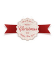 merry christmas festive circle label vector image vector image