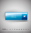 Modern button SELL with icons set vector image vector image