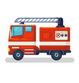 modern city transport fire fighting car side vector image vector image