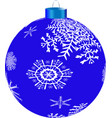new year s blueball vector image vector image