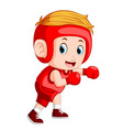 profesional atletes boy plays boxing vector image