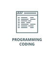 Programmingcoding line icon linear