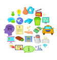 remuneration icons set isometric style vector image vector image