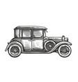 retro car vintage vehicle in vector image