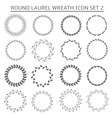 Round wreath icons vector image vector image