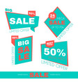 sale sticker set special offer discount vector image