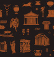seamless pattern on theme ancient greek vector image vector image