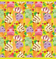 seamless pattern with ice cream cones with glaze vector image vector image