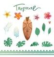 set of tropical plants vector image vector image