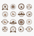 Set of vintage style elements of coffee shop vector image vector image