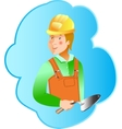 Skills Builder profession on blue background vector image