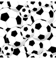 Soccer balls seamless pattern vector image vector image