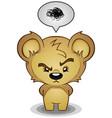 stern frustrated teddy bear cartoon character vector image