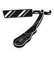 straight razor icon simple style vector image