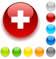 Switzerland button vector image vector image