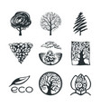 tree logo collection vector image