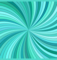 turquoise abstract psychedelic spiral stripe vector image vector image