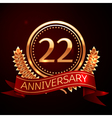 Twenty two years anniversary celebration with vector image vector image