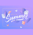 ultra violet summer typography design vector image vector image