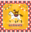 Vintage card with horse and dog vector image
