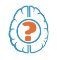 question mark in human brain vector image