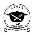 cooking school emblem pretty vector image
