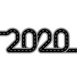 2020 new year the road is stylized as an vector image vector image