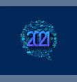 2021 new year business technology set application vector image vector image