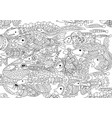 a lot of zentangle fish floats vector image vector image
