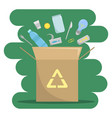 about the industry of waste recycling nature vector image