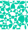 abstract background teal intersecting circles vector image vector image