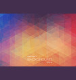 abstract color background with triangle shapes vector image vector image