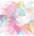 abstract irregular polygon background pastel vector image vector image