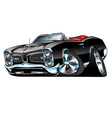 American Classic Muscle Car Cartoon vector image vector image