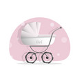 baby stroller for girls isolated on white vector image vector image