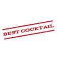 Best Cocktail Watermark Stamp vector image vector image