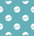 bonus sign pattern seamless blue vector image vector image