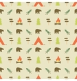 Camping elements pattern Camping seamless vector image