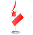 Canadian flag on flagstaff vector image