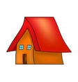 cartoon house symbol icon design vector image