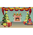 Christmas Living Room vector image
