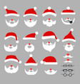 christmas photo booth props and scrapbooking vector image vector image