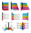 collection infographics with ink pens vector image vector image